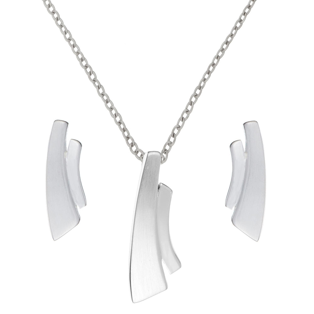 Load image into Gallery viewer, Sterling Silver Contemporary Double Bar Set - Silverly