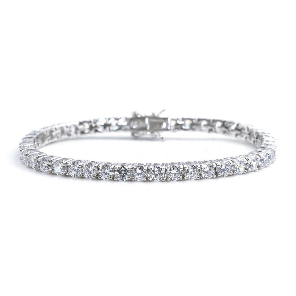 Sterling Silver 4 mm Cubic Zirconia Tennis Bracelet - Silverly