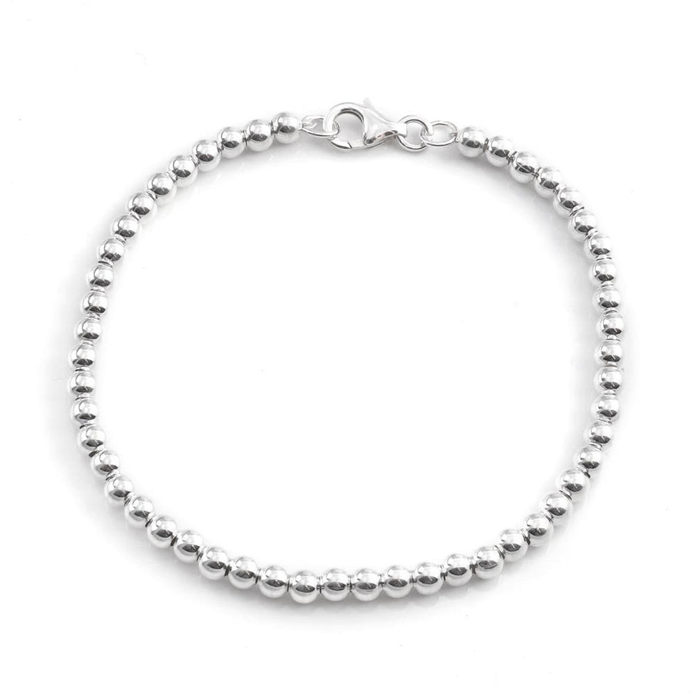 Sterling Silver 4 mm Ball Bracelet - Silverly