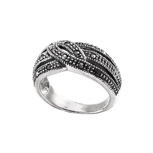 Load image into Gallery viewer, Sterling Silver Swiss Marcasite Ring