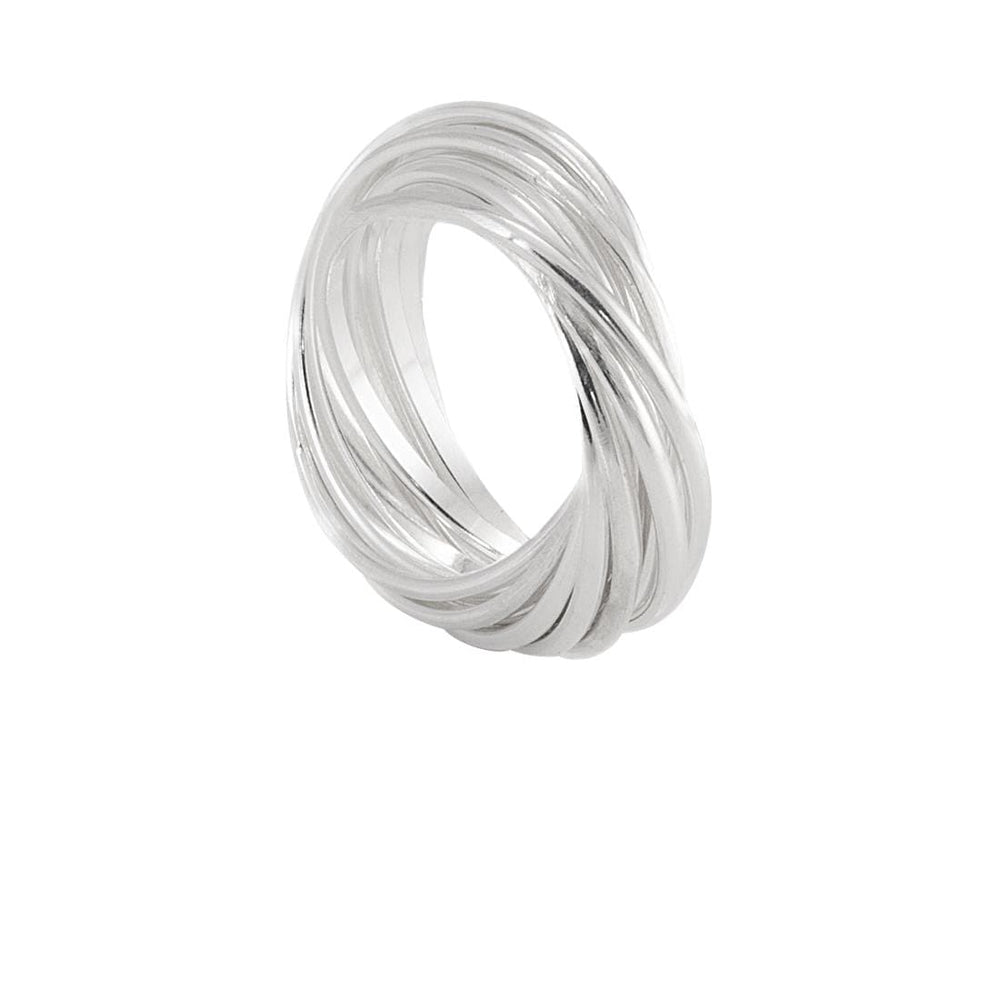 Sterling Silver Twelve Interlocking Ring - Silverly