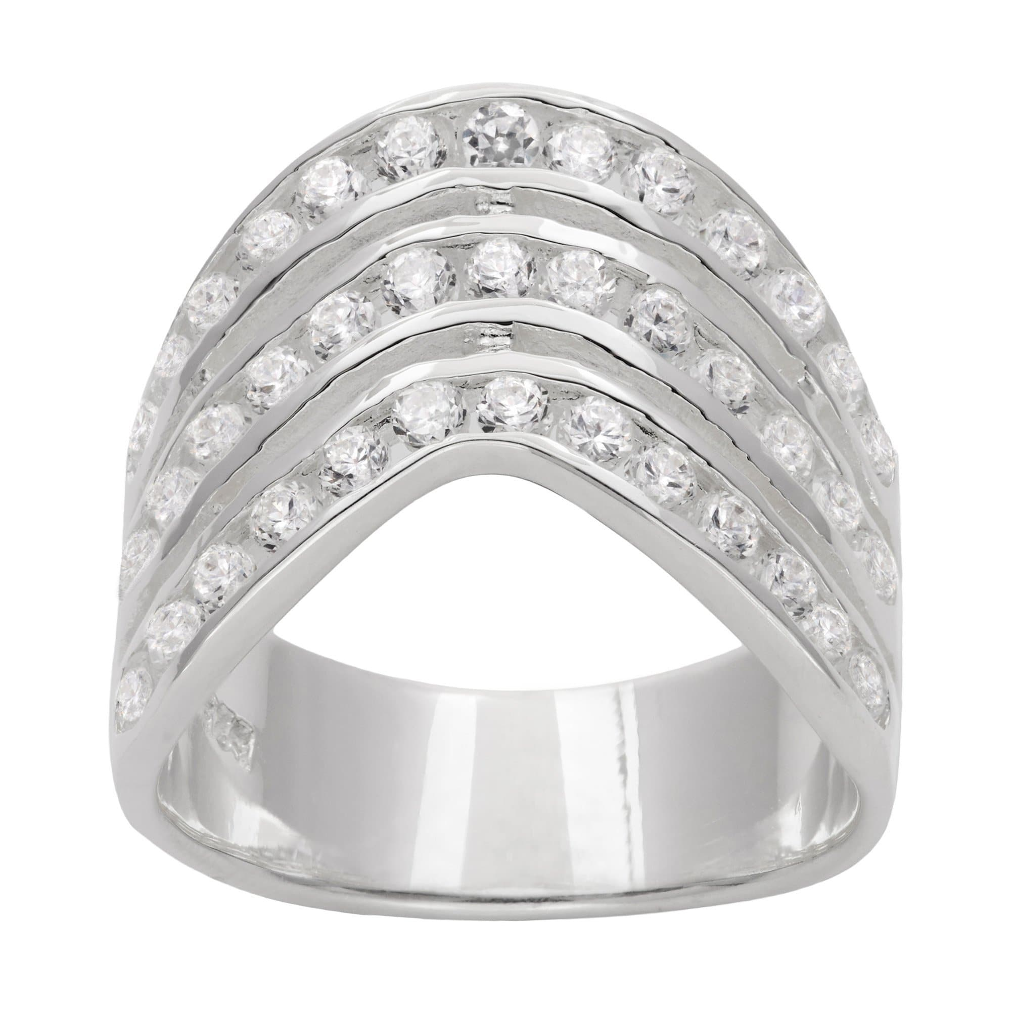 engagement jewelry the collection five stone forevermark braided tribute rings ring layered