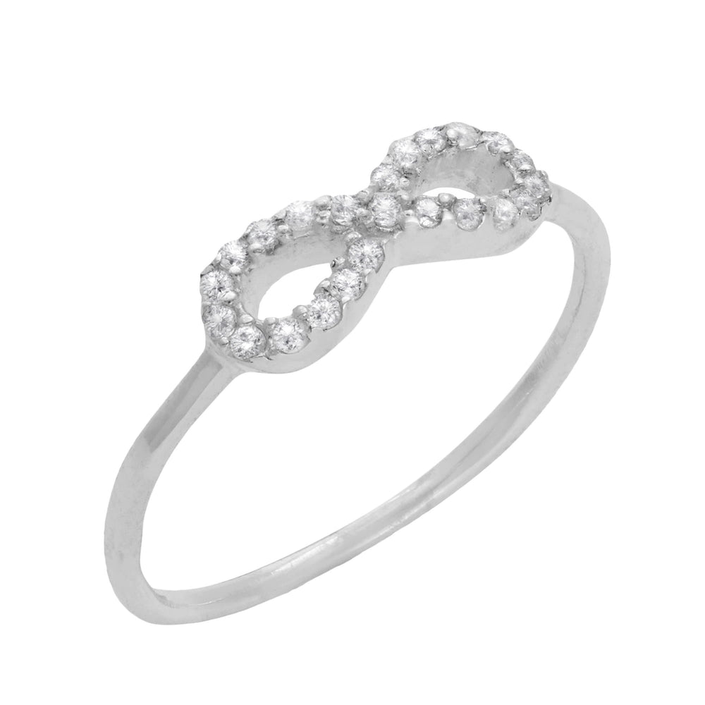 Sterling Silver 22 Cubic Zirconia Infinity Band Ring