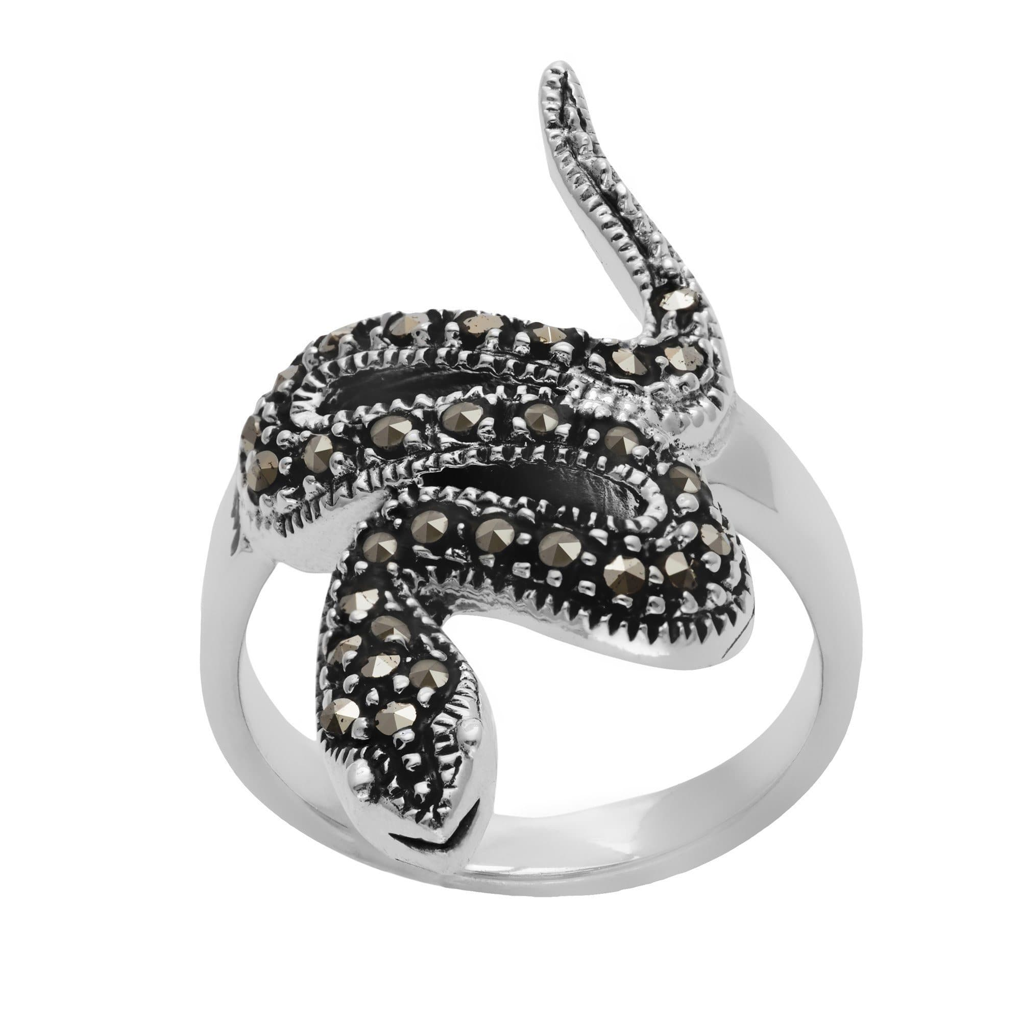 of a piece aeravida sterling grace front with gemstone mr swirl this products fill fashionable for captivating gemstones the star marcasite design style ring cute details silver rings in dazzles