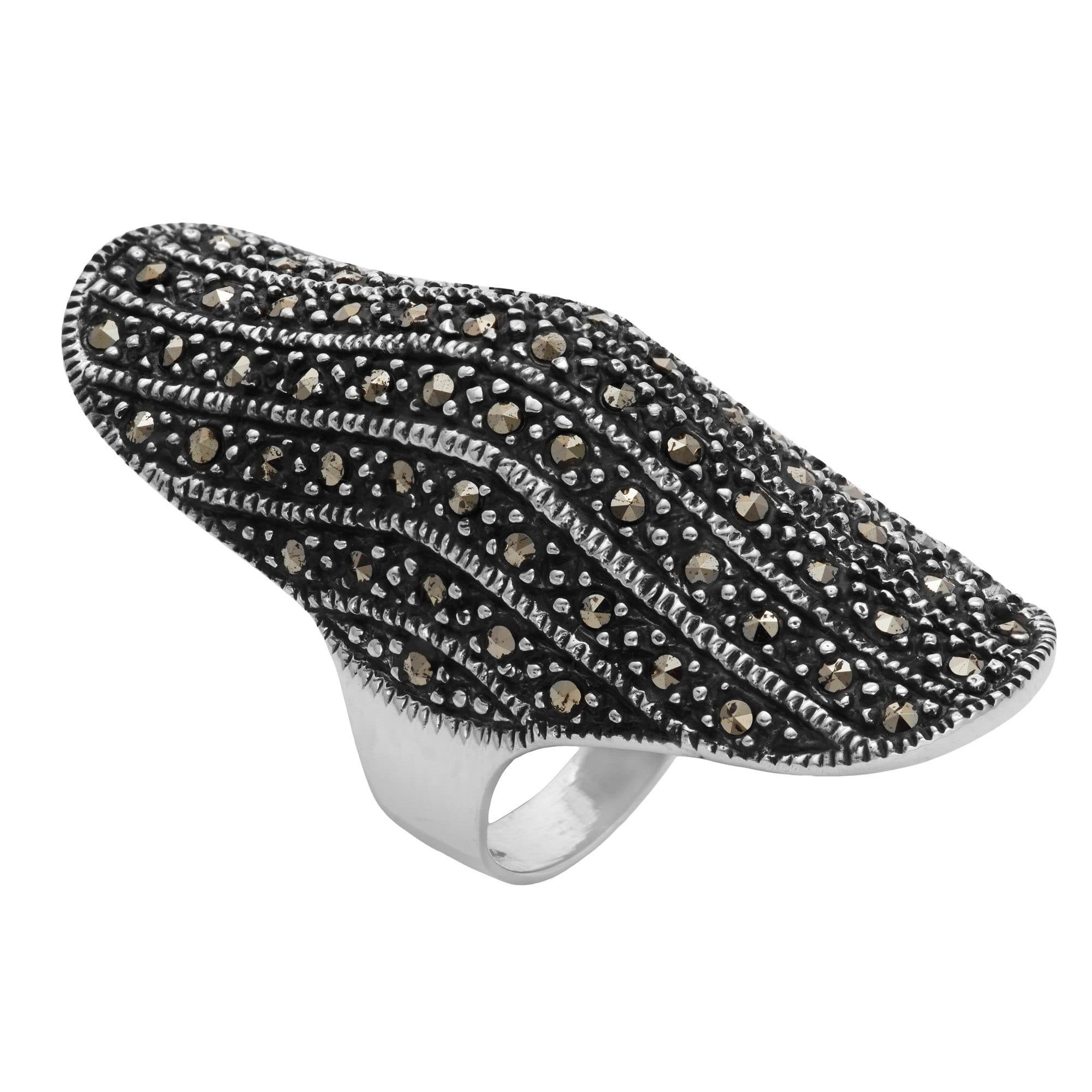 silver sterling marcasite ring photo gallery rings fullxfull pave il deco art listing