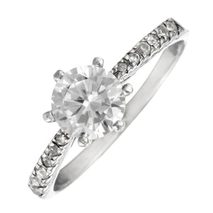 Load image into Gallery viewer, Sterling Silver Solitaire Classic CZ Brilliant Round Cut Ring - Silverly