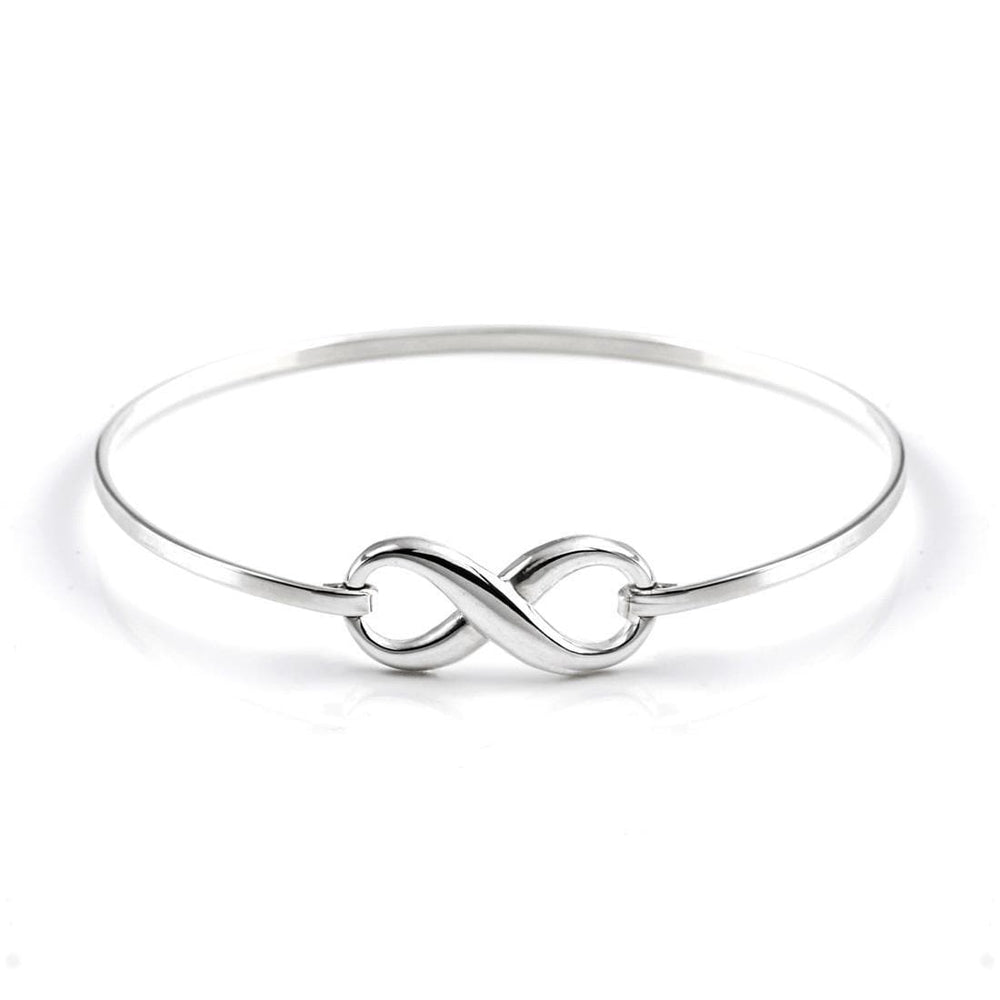 "Sterling Silver Infinity Symbol ""8"" Bangle - Silverly"