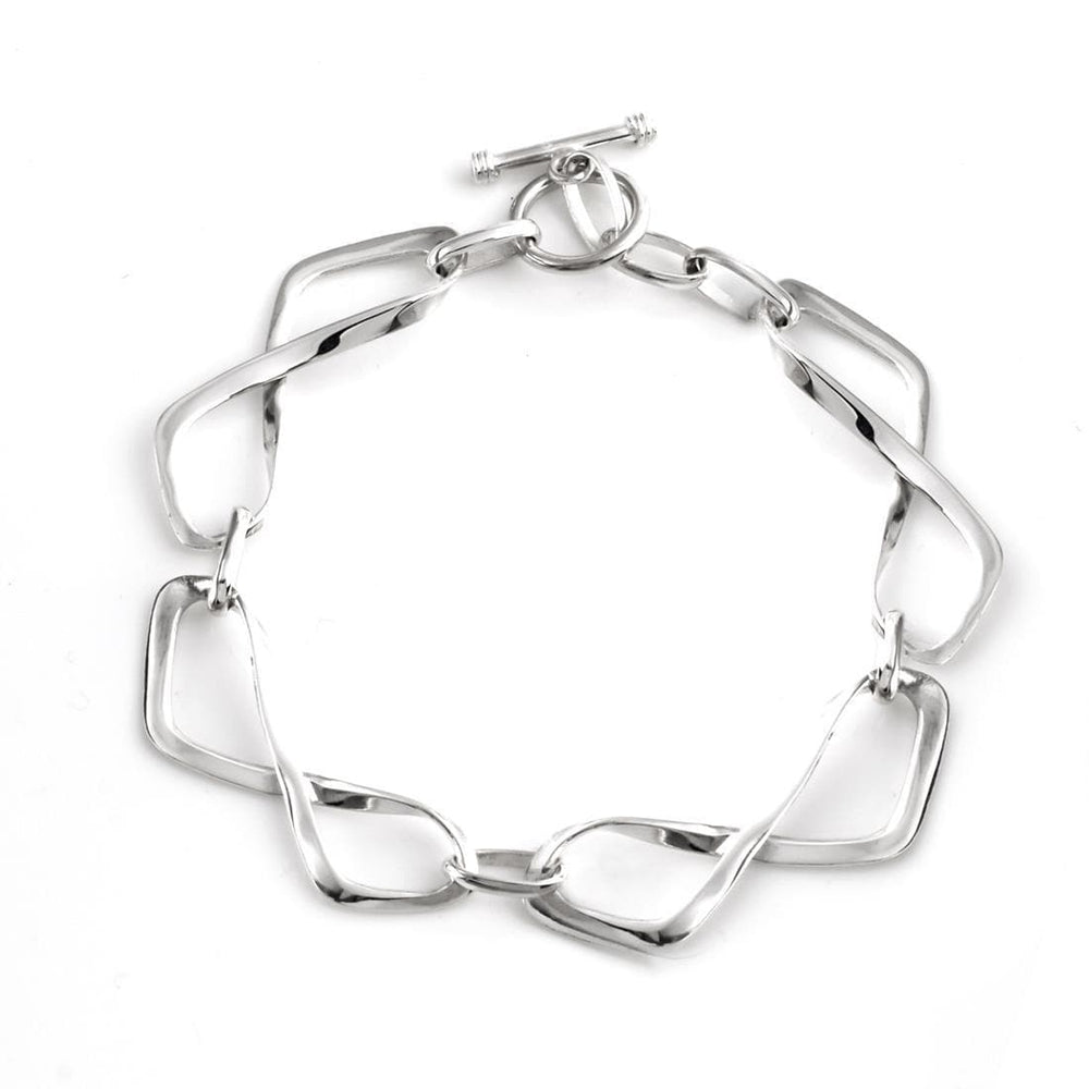 Sterling Silver Twisted Infinity Symbols Bracelet - Silverly
