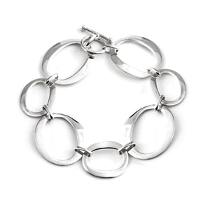 Load image into Gallery viewer, Sterling Silver Open Oval Link Bracelet - Silverly