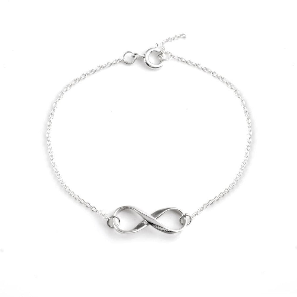 Sterling Silver Infinity Symbol Chain Bracelet - Silverly