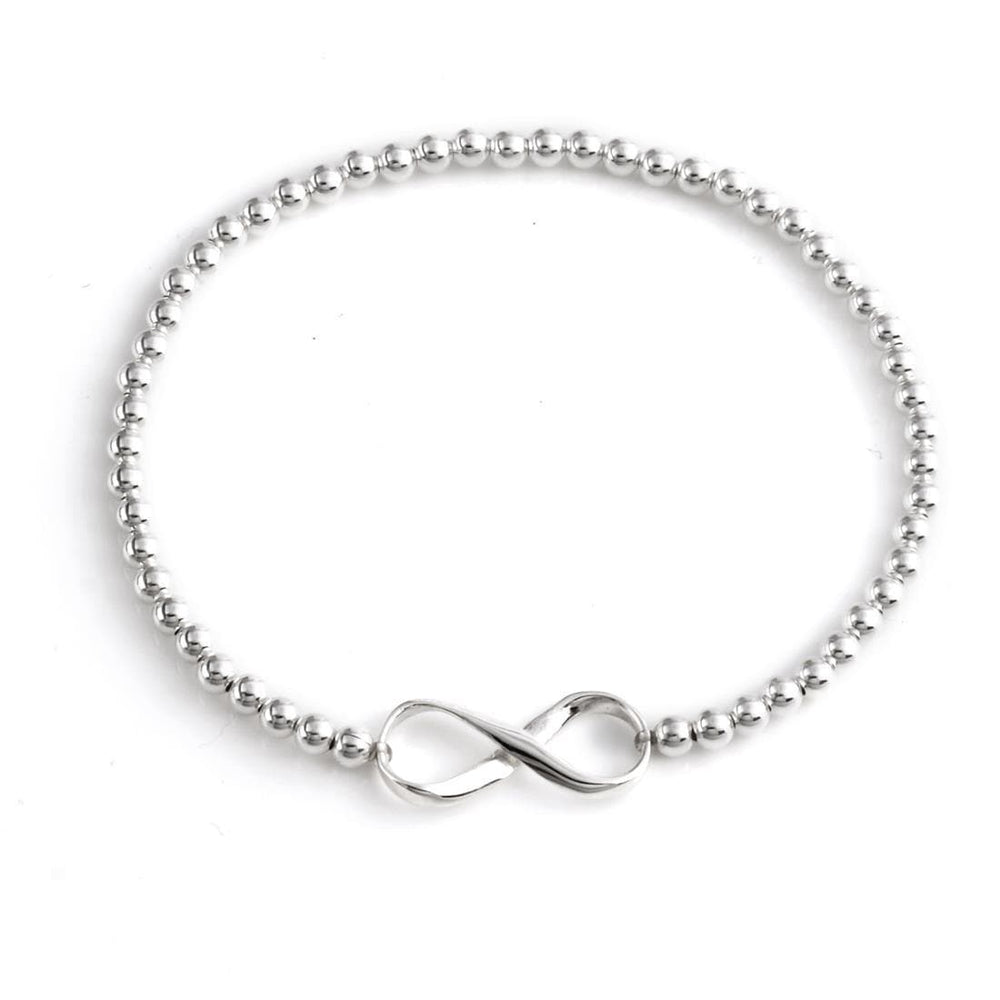 Sterling Silver Infinity Bracelet Stretch/ Adjustable - Silverly