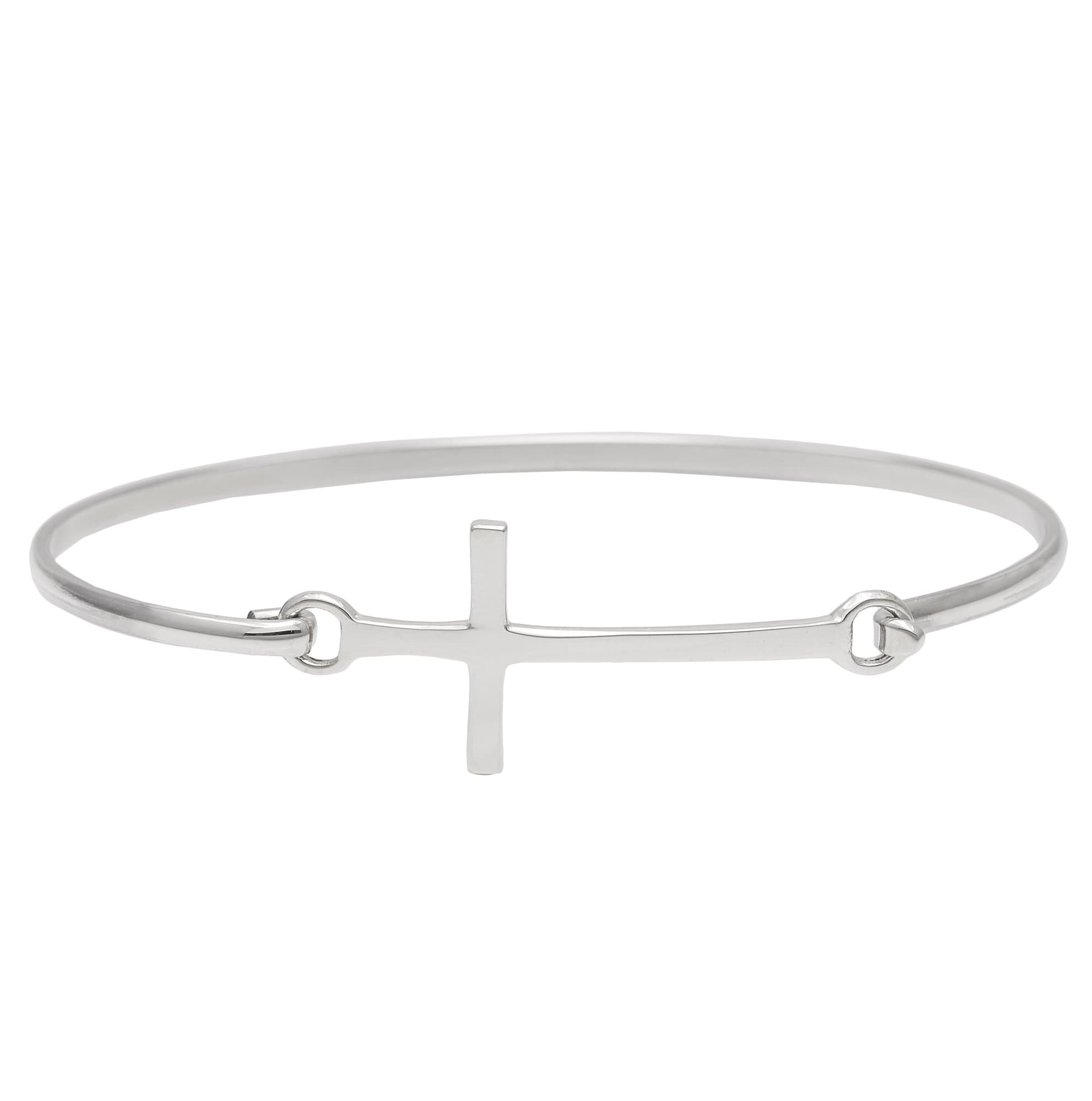 bangles stackable bangle religion crucifix silverly cross bracelet products sterling clasp silver womens pressure