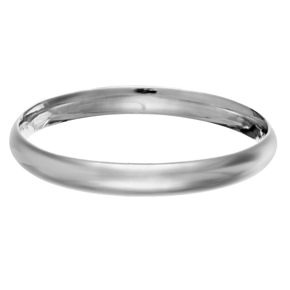 Sterling Silver Wide Plain Bangle