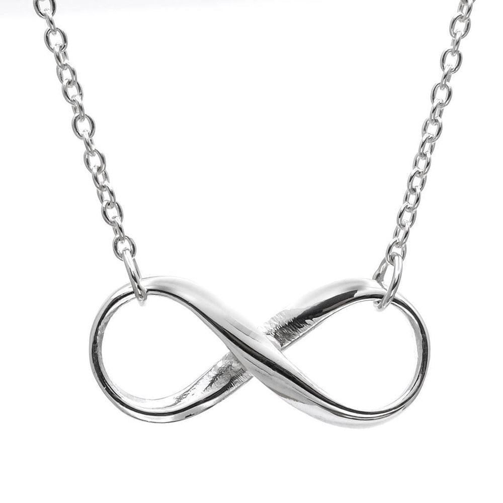 "Sterling Silver Infinity ""8"" Pendant Necklace - Silverly"