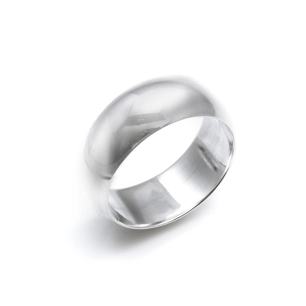 Sterling Silver Unisex Wedding Band Ring - Silverly