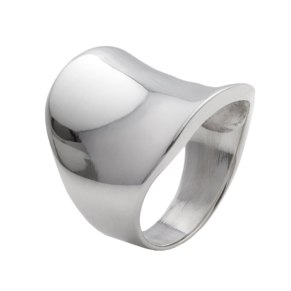 Sterling Silver Large Smooth Curved Thumb Ring