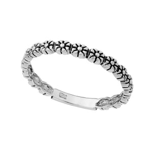 Load image into Gallery viewer, Sterling Silver Daisy Chain Ring