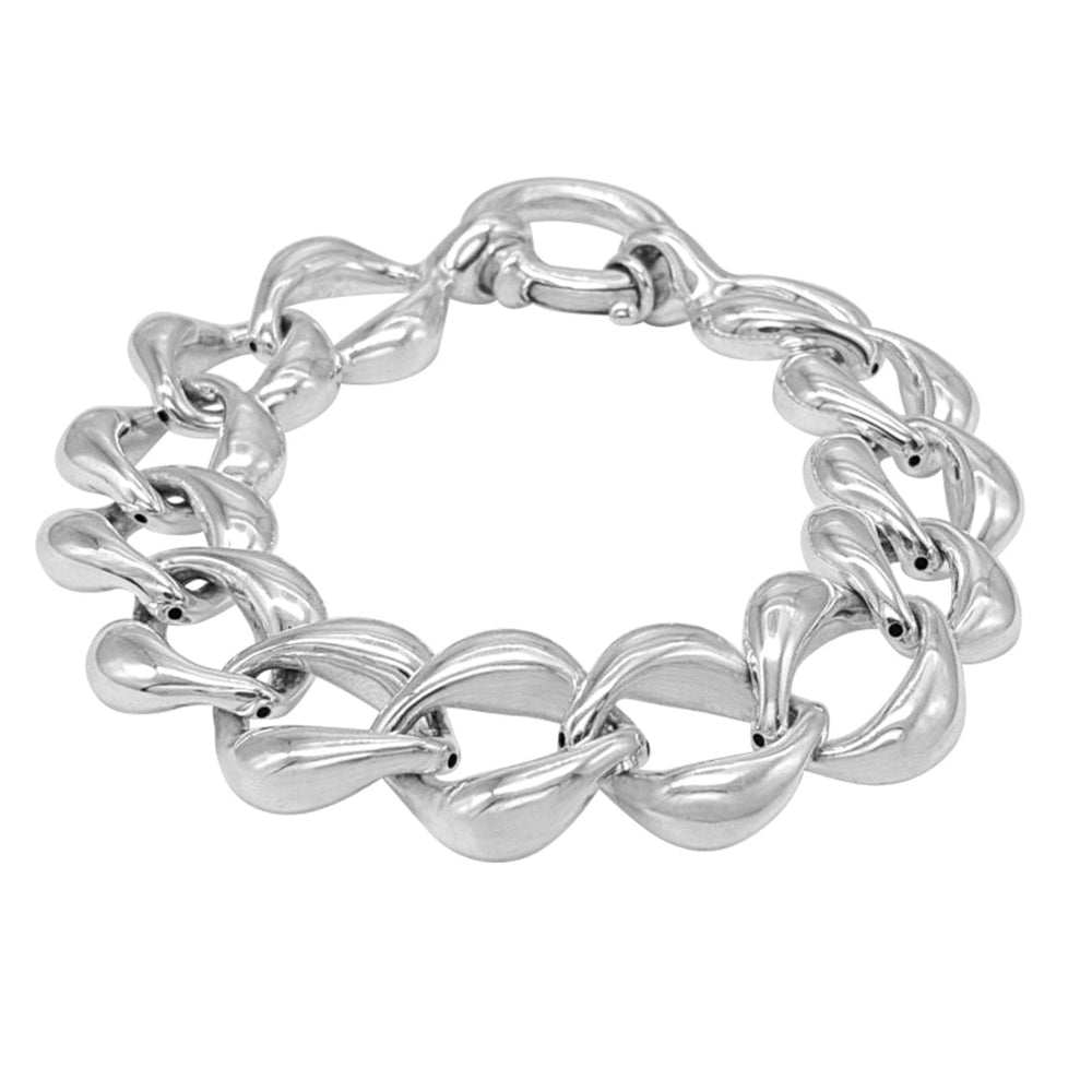 Load image into Gallery viewer, Sterling Silver Electroform Chunky Thick Curb Chain Bracelet