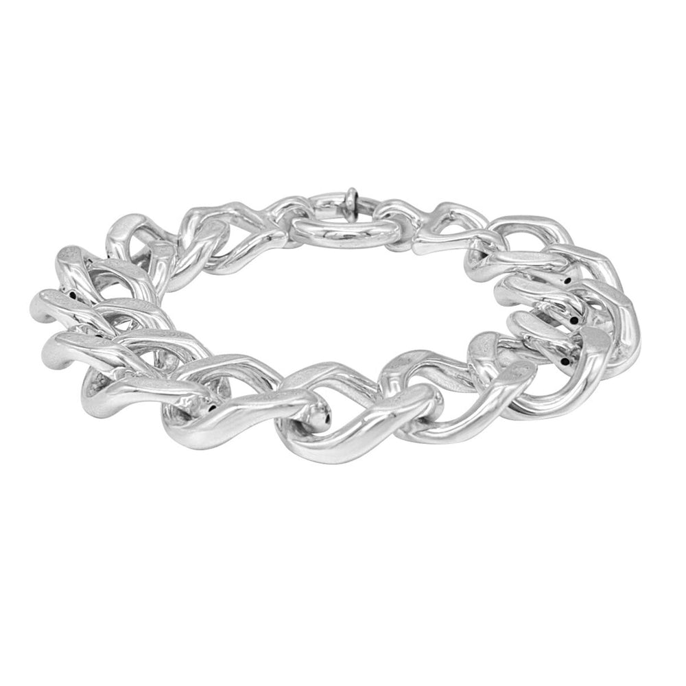 Load image into Gallery viewer, Sterling Silver Electroform Chunky Cuban Chain Bracelet