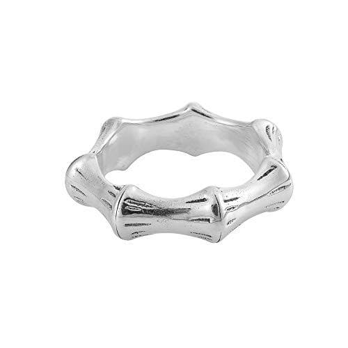 Sterling Silver Bamboo Stick Band Ring