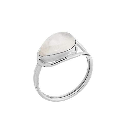 Sterling Silver Lasso Knot Moonstone Ring