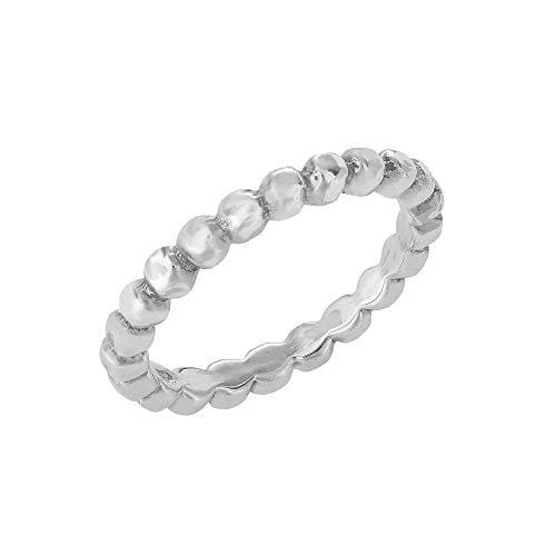 Sterling Silver Multi-Ball Stackable Band Ring