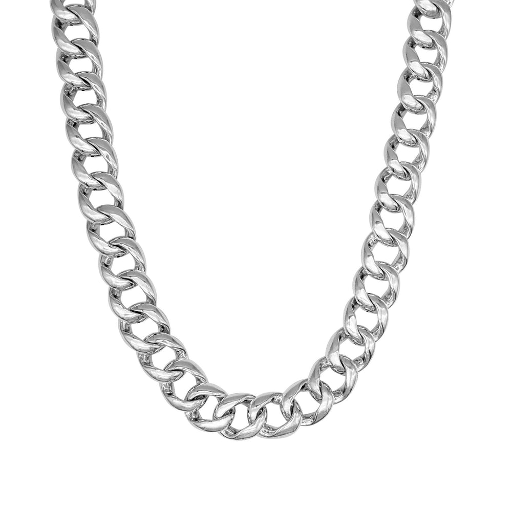 Sterling Silver Electroform Chunky Curb Chain Necklace