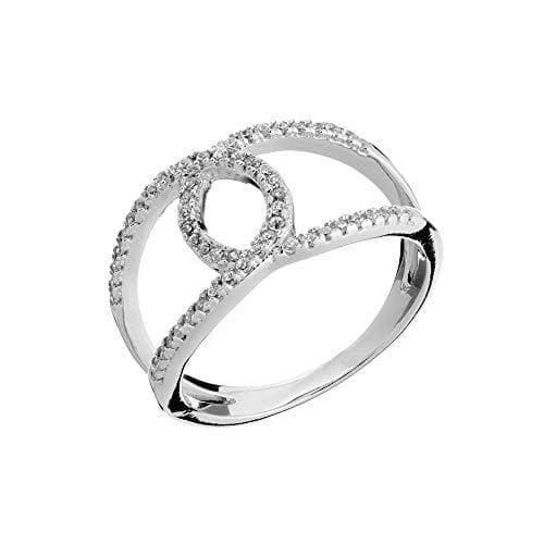 Sterling Silver Cubic Zirconia Embrace Ring