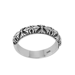 Load image into Gallery viewer, Sterling Silver Ethnic Patterned Ring