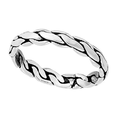 Sterling Silver Woven Braid Ring