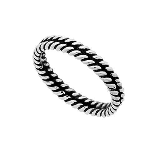 Sterling Silver Double Twisted Rope Ring