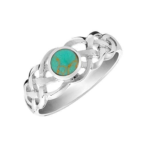 Sterling Silver Turquoise Celtic Knot Ring