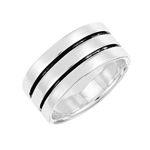 Sterling Silver Double Groove Ring