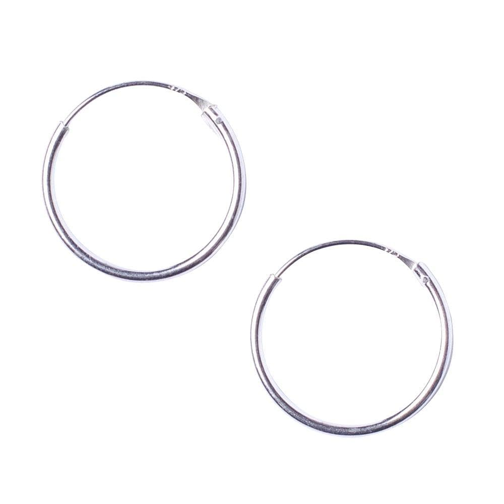 Load image into Gallery viewer, Sterling Silver Round 1.2mm 18 mm Hoop Earrings