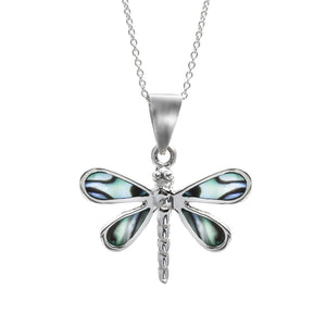 Load image into Gallery viewer, Sterling Silver Dragonfly Necklace