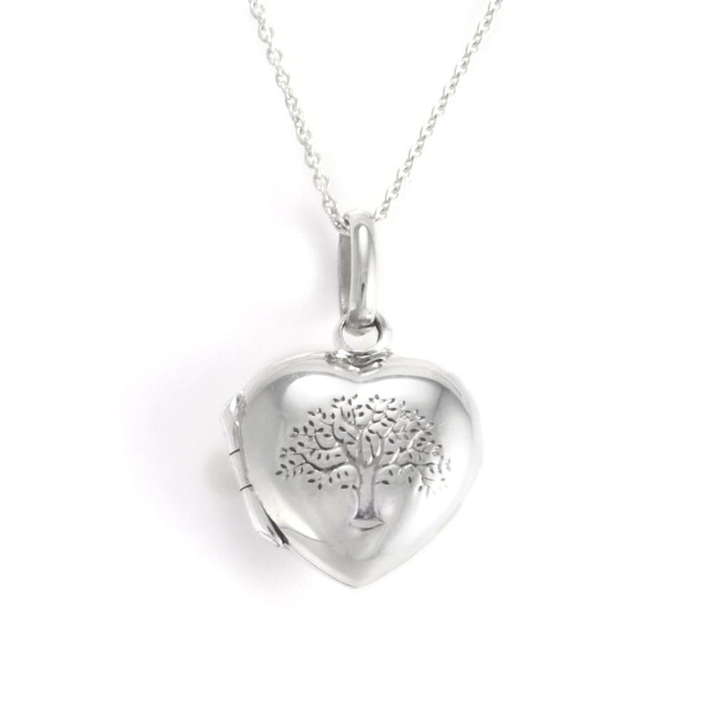 Sterling Silver Tree of Life Locket Pendant Necklace