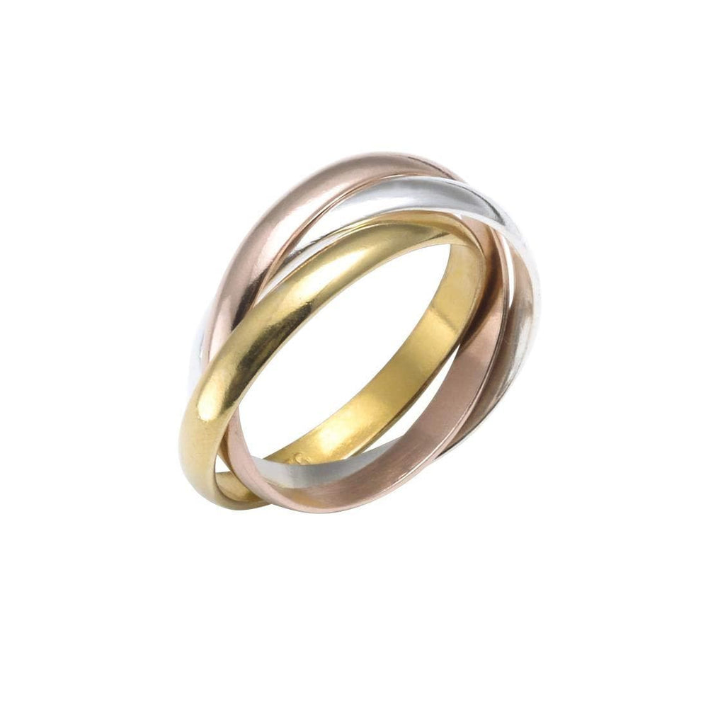 Load image into Gallery viewer, Rose Yellow Gold Plated Sterling Silver Russian Ring