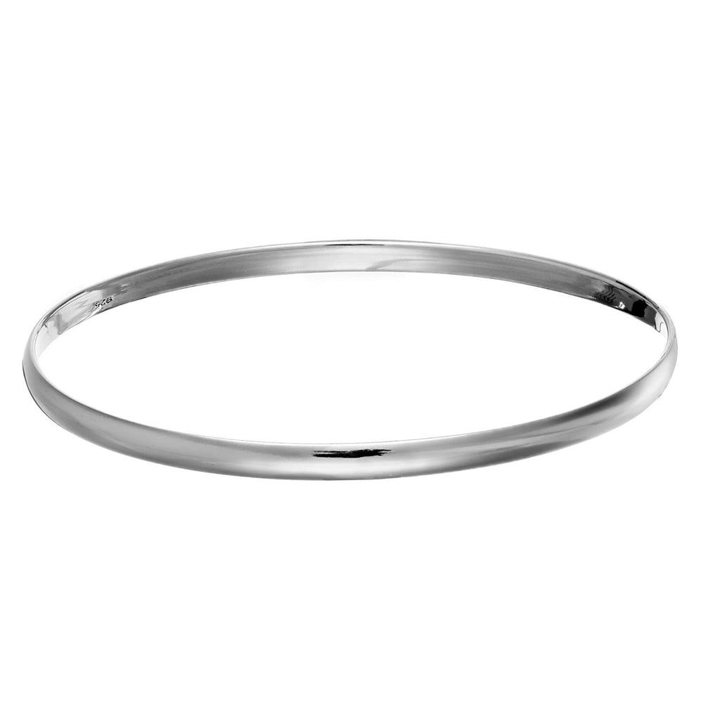Sterling Silver Thin Plain Bangle