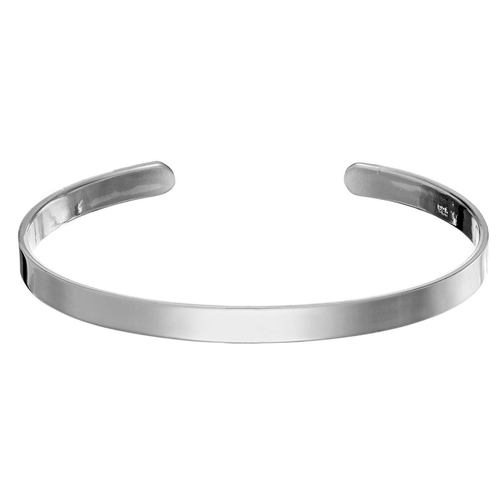 Load image into Gallery viewer, Sterling Silver Plain Identity Adjustable Bangle