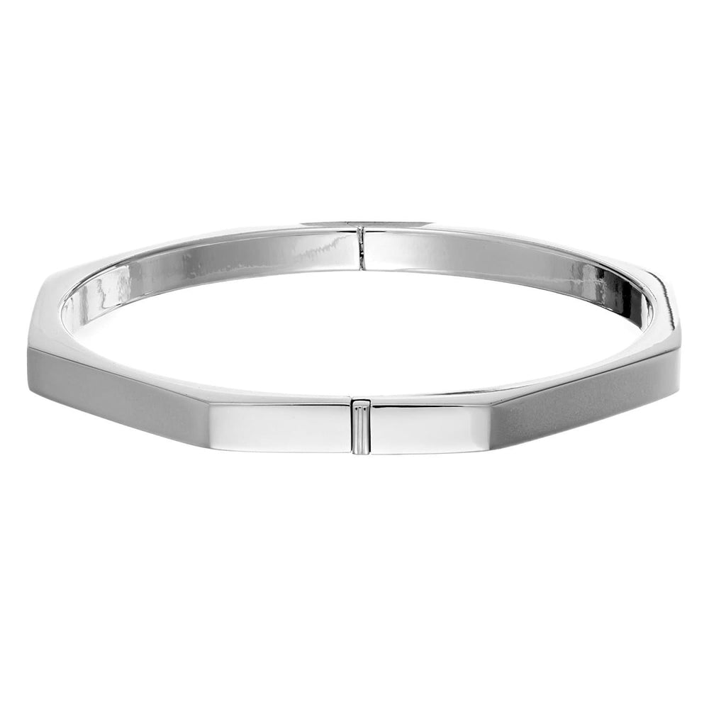 Load image into Gallery viewer, Sterling Silver Octagon Hinged Bangle