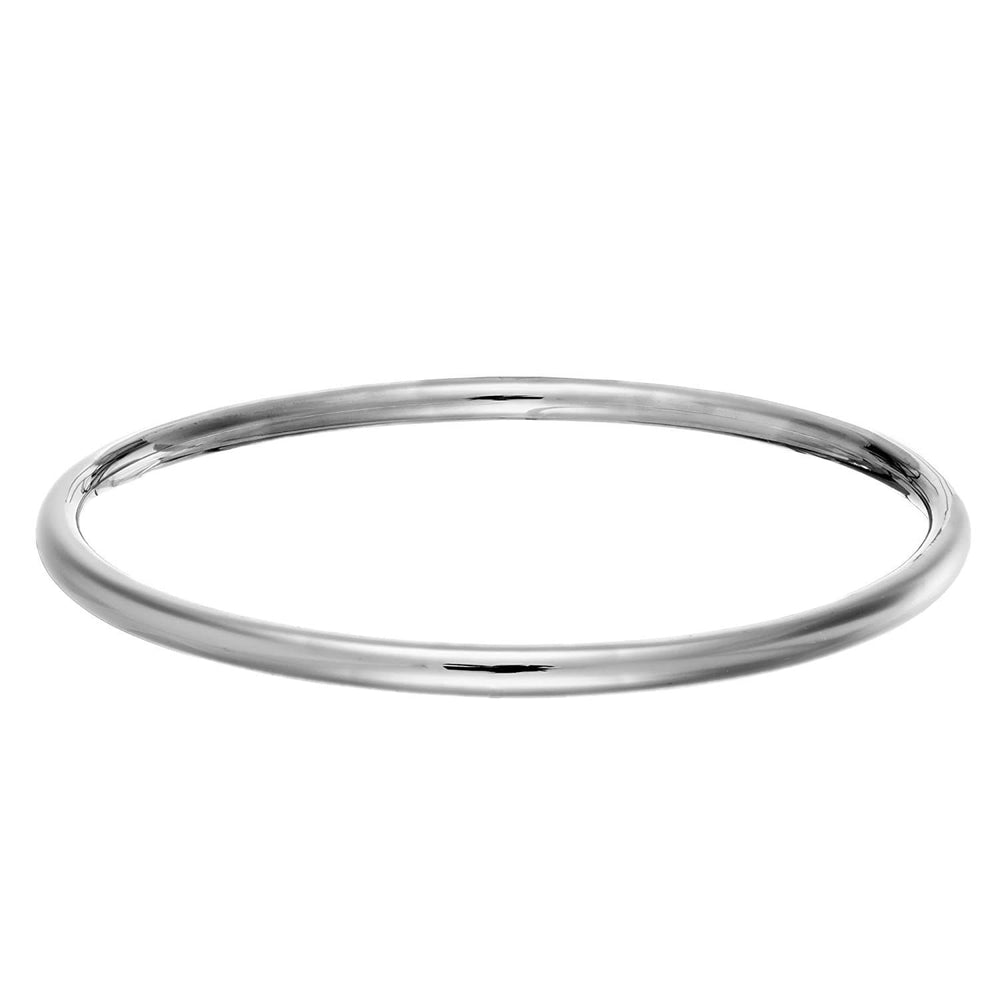 Sterling Silver Plain Tube Bangle