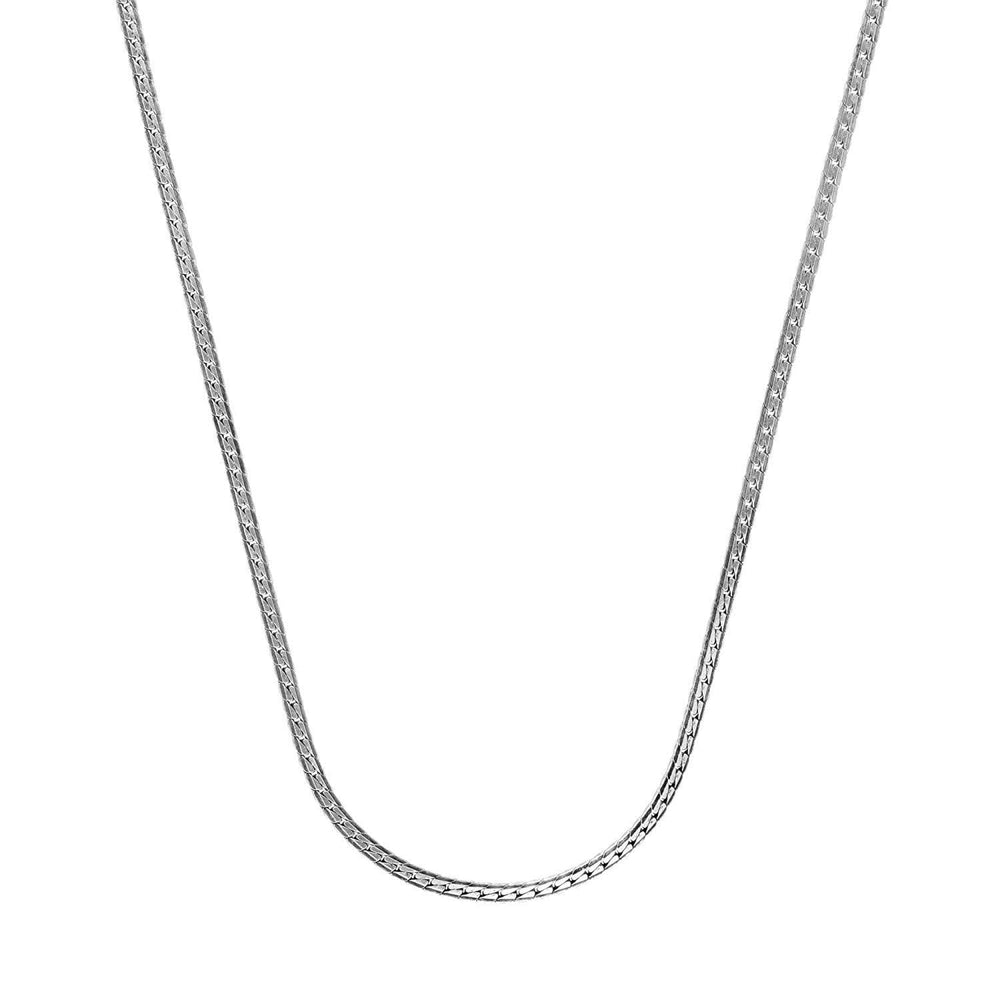 Sterling Silver Flat Snake Chain Necklace