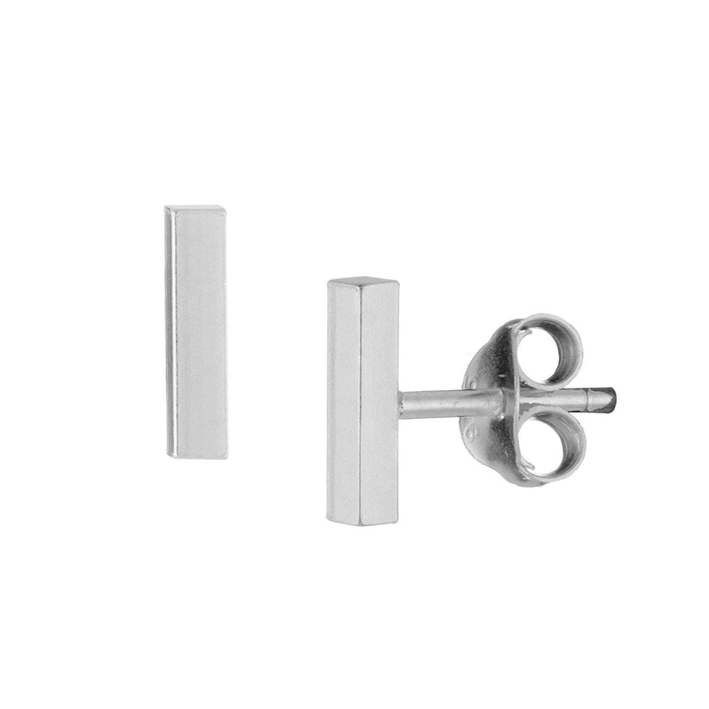 Sterling Silver 7 mm Bar Stud Earrings