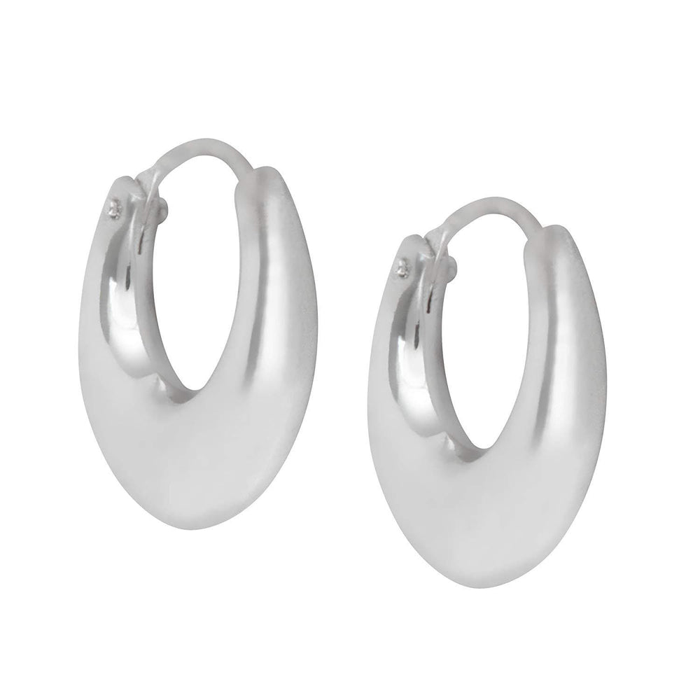 Sterling Silver Hinged Small Huggie Hoop Earrings