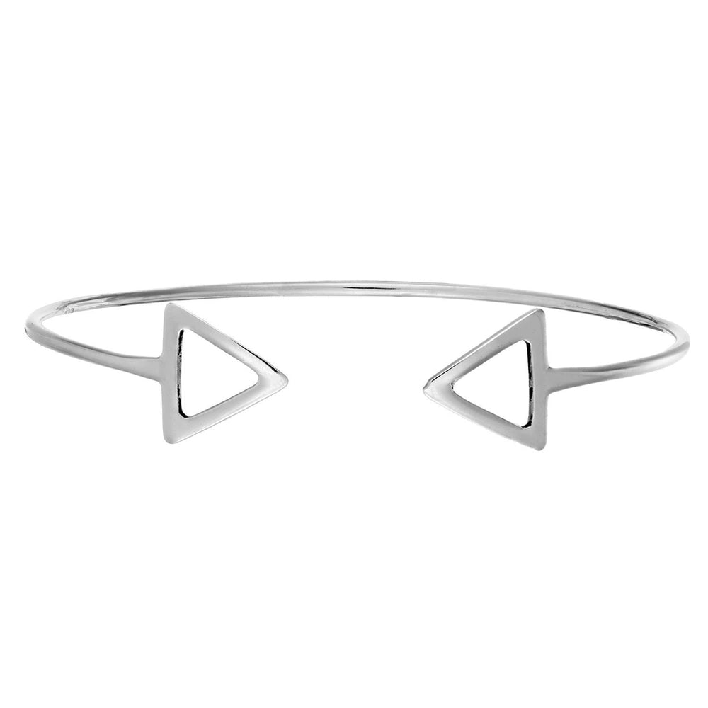 Sterling Silver Double Arrow Adjustable Bangle