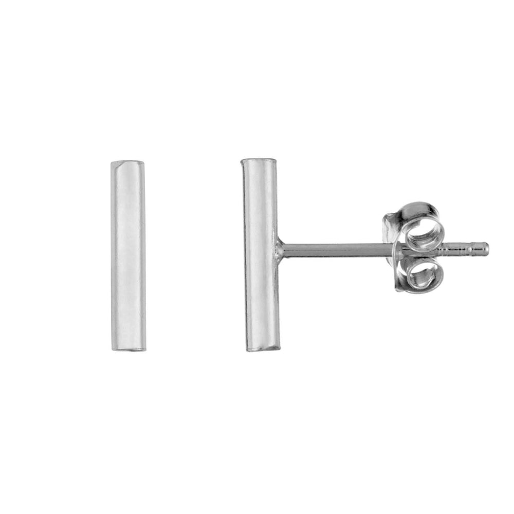 Load image into Gallery viewer, Sterling Silver Small Bar Stud Earrings