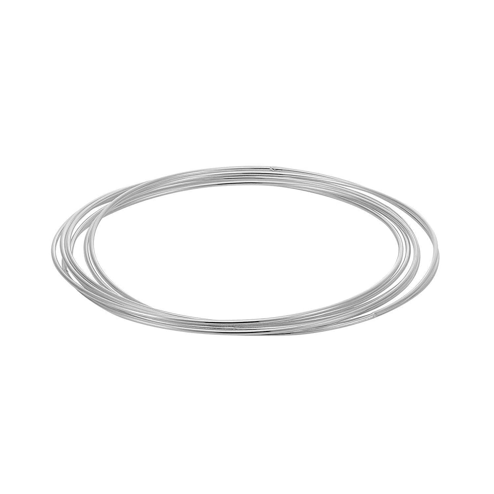 Load image into Gallery viewer, Sterling Silver Seven Interlocking Bangle