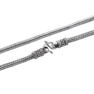 Load image into Gallery viewer, Sterling Silver Balinese Snake Chain Necklace