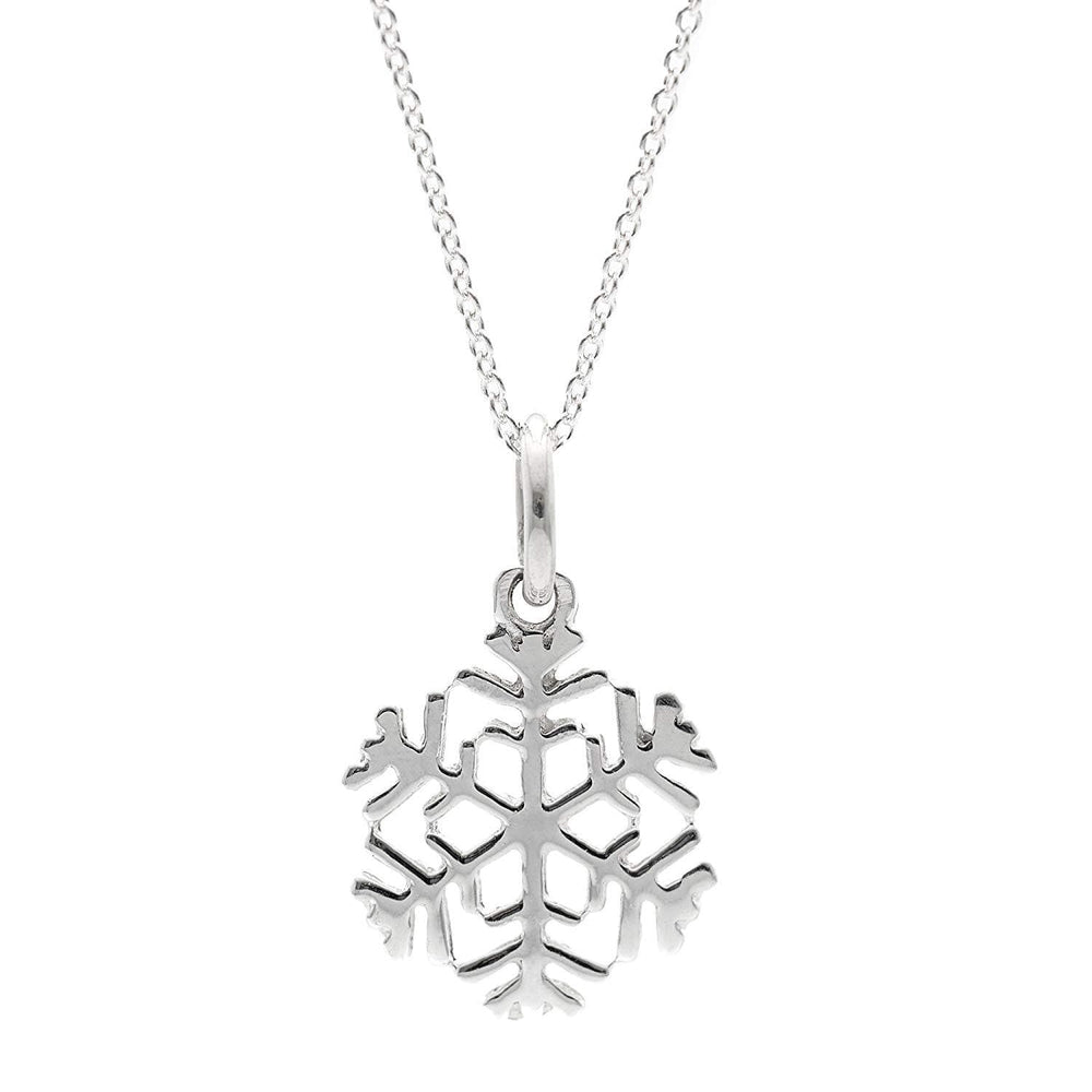 Sterling Silver Small Snowflake Pendant Pendant Necklace
