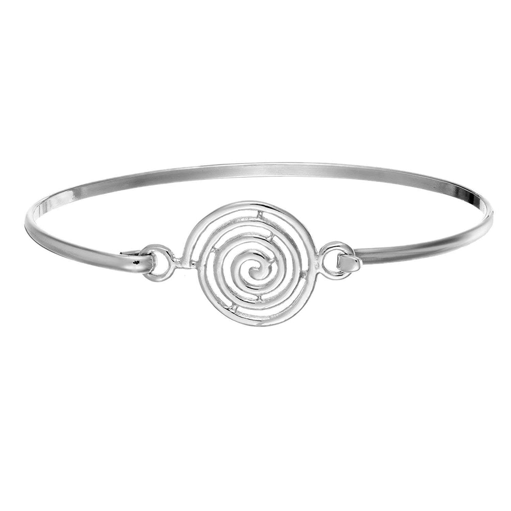 Load image into Gallery viewer, Sterling Silver Spiral Bangle
